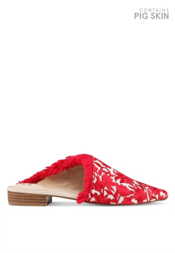 E8 by Miista red Leroy Embroidery Slip Ons E8283SH0STI5MY_1