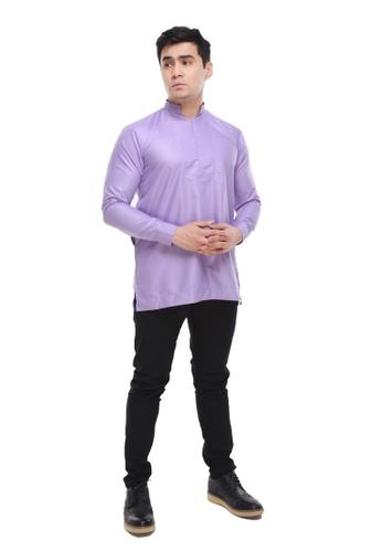 Amar Amran purple Kurta Qardhawi 96A0CAA9EAAFB2GS_1