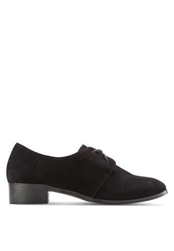 Something Borrowed black Textured Lace Up Derby E713FSHABD4F3BGS_1