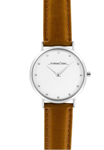Andreas Osten silver Andreas Osten AO-18 Women's Silver Analogue Quartz Watch with Leather Bracelet E372CACBA6A6DFGS_1
