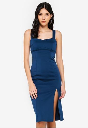 Miss Selfridge blue Teal Scuba Pencil Dress 8AD9EAA105C6B8GS_1