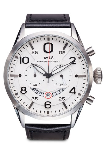 Hawker尖沙咀 esprit outlet Harrier II 皮革腕錶, 錶類, 錶類