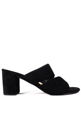 Zanea Shoes black Asymmetrical Strappy Block Heels C21D7SH6376A2BGS_1