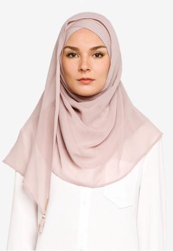Bokitta pink Pink Mist Instant Hijab 53584AADEA042AGS_1