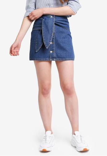 Something Borrowed blue Self Tie Mini Skirt 7F810AA936B5E4GS_1