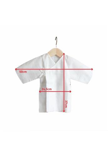 Little Kooma white Suzuran Baby Gauze Undershirt (Short) 2pcs 7345AKA0E37F5EGS_1