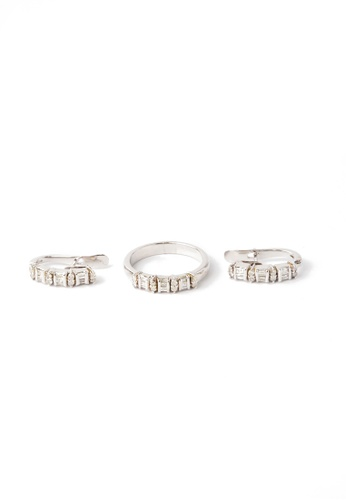 CEBUANA LHUILLIER JEWELRY silver 14 Karat White Gold Earrings And Ring Set With Diamonds C0F03ACB900DF7GS_1