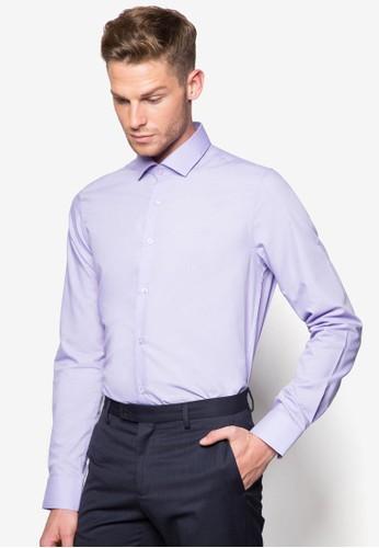 素色合身長袖襯衫, 服飾, 襯esprit品牌介绍衫