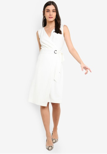 FORCAST white Noemi Crossover Dress 15456AA8BC4FC5GS_1