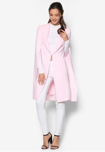 開衩袖長版西裝外套, 服飾, 夾克zalora 泳衣 & 大衣