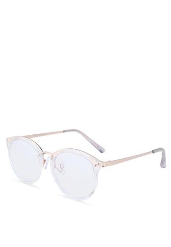 ALDO white Drirella Square Sunglasses 35C25GLF1452FFGS_1