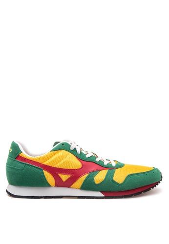 Mizuno red and yellow and green ML 87 Sneakers MI197SH40CMHPH_1