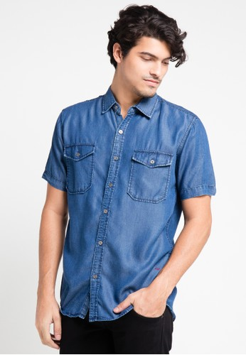 EDWIN blue Original Denim Shirt 205-11 ED179AA0URIEID_1