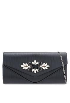 Unisa black Glittering Colour Stones   Crystal Faux Leather Clutch  736DEAC0DC0F9AGS 1 d3d5d1eb13