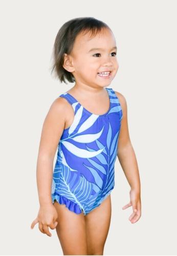Mommy Hugs white and blue Tropical Blue Twinning Swimwear - Girl Version FCDA4KABA303ABGS_1