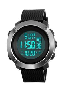 af39ff17b2f SKMEI 1268 Big Dial Dual Time Alarm LED Digital Sport Men Watch Full Black  48066ACAFE3D1DGS 1