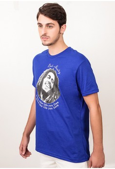 Round Neck with Print Bob Marley T-shirt