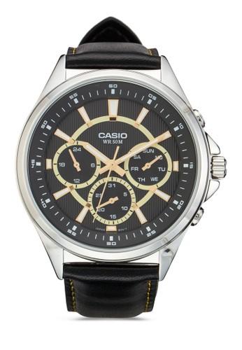 MTP-E303L-1AVDF 多功能皮革手錶, 錶類, 飾品尖沙咀 esprit配件