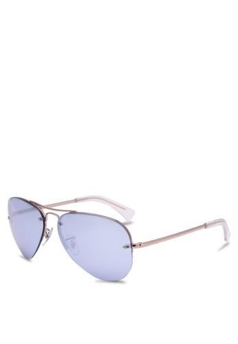 Ray-Ban brown RB3449 Polarized Sunglasses RA896GL0RZ4ZMY_1