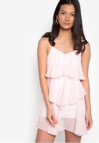 Twenteen pink Thelma Three Tier Chiffon Dress TW408AA66PUFPH_1