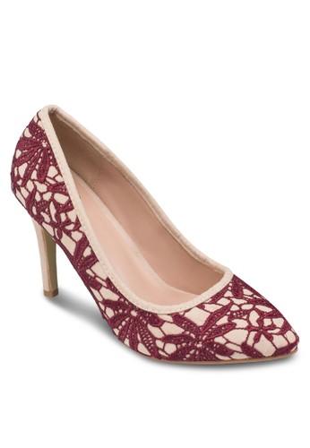 蕾絲鉤zalora 心得 ptt花尖頭高跟鞋, 女鞋, 鞋