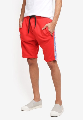 Superdry red Superdry Stadium Shorts 3C521AA61396E3GS_1