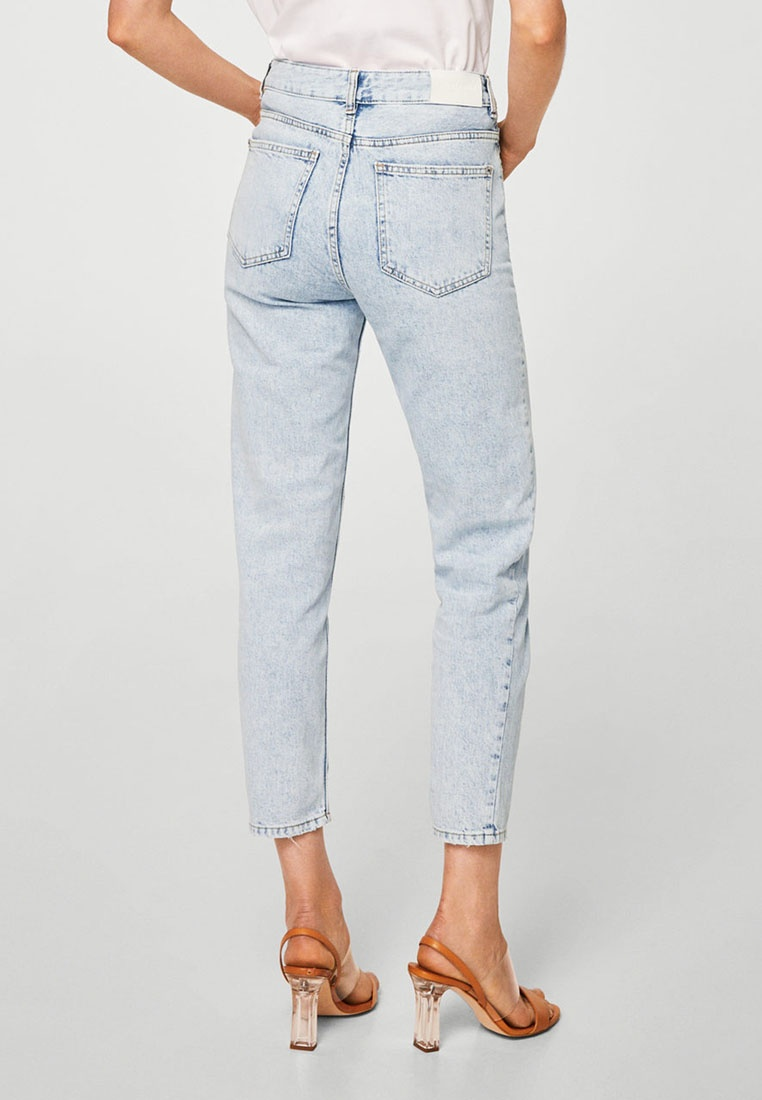 Mom Open Jeans Mango Blue Relaxed wvaxOUqgq