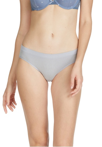6IXTY8IGHT silver SANDIE SOLID, Circular Knit Lurex Stripe Hipster Panty PT09890 DC7E4US06377EEGS_1
