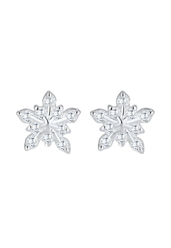 Elli Germany silver Elli Germany Earring Snowflake Winter Zirconia 925 Silver EL474AC0SEV8MY_1