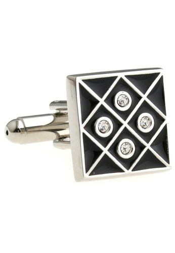 The Little Link Cufflinks black Foursome cufflinks TH089AC0FSW1SG_1