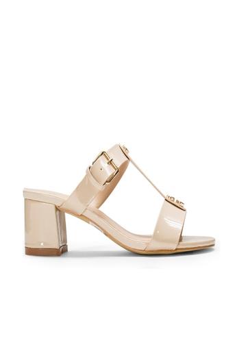 SEMBONIA beige SEMBONIA Synthetic Leather Heeled Sandal (Beige) FB6A1SHFAAD229GS_1
