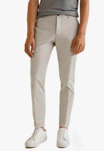 MANGO Man grey Cotton Chinos A7669AAA1AD057GS_1