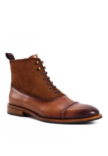Twenty Eight Shoes Bittter Leather Suede Brogue Boot G802-2 F2634SH7387528GS_1