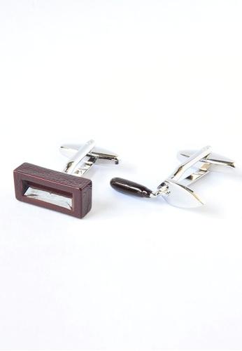 Splice Cufflinks Bricklayers Coloured Trowel & Brick Brown Cufflinks SP744AC35DOUSG_1