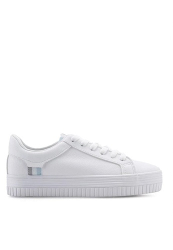 Twenty Eight Shoes 厚底簡約白色運動鞋8057 5C359SHD5B494CGS_1