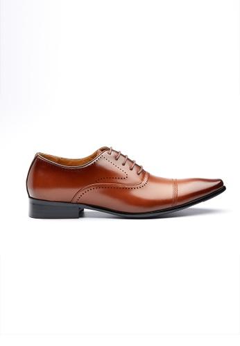 Kings Collection 褐色 薩巴托皮鞋 53273SHCC6A168GS_1