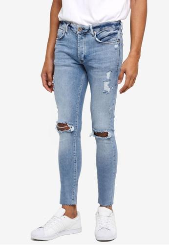 River Island blue Pac Man Rips Jeans 8E80DAAFE3CF67GS_1