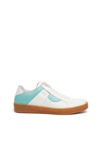 Royal Elastics white and green Icon Dots Leather Sneakers 90090SHB52ECC3GS_1