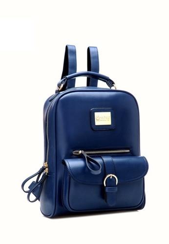 Jackbox Korean Fashion Casual Ipad Backpack 509 (Blue) JA762AC19VHKMY_1