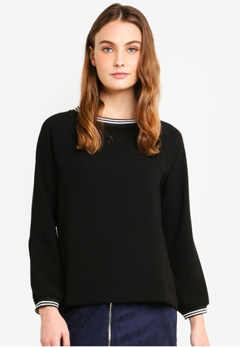 ESPRIT 黑色 條紋上衣 9F72EAA6DA99B9GS_1
