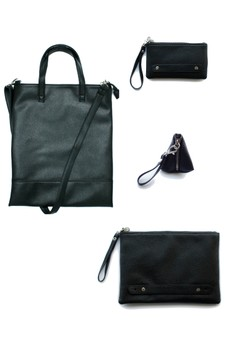 Set of Leatherette Sling Bag, Tablet Sleeve, Mobile Phone Pouch and Coin Purse