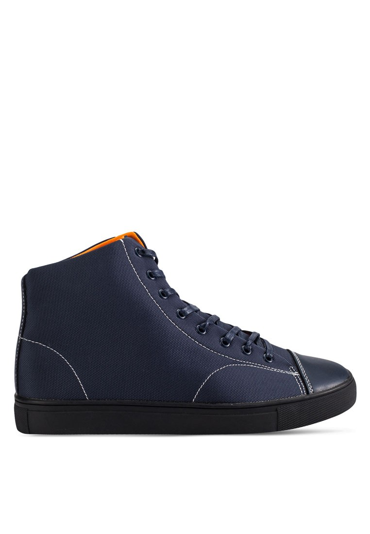 Mesh And Neoprene High-Top Sneakers
