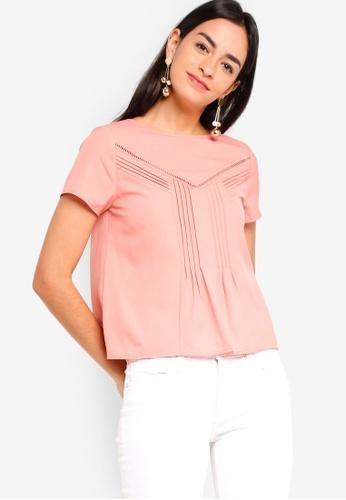 ZALORA pink Lace Blouse 4006FAA6F6DEEFGS_1