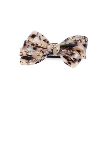 Glamorousky brown Fashion Temperament Shallow Tortoiseshell Ribbon Hair Slide with Cubic Zirconia 203B2AC2E9C8B5GS_1