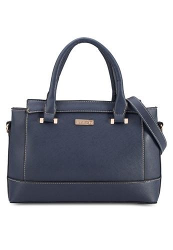 撞色滾邊十字紋手提包, 包zalora時尚購物網的koumi koumi, 清新俏皮