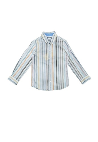 PAUL SMITH JUNIOR multi PAUL SMITH JUNIOR BOYS LONG SLEEVE SHIRT A5803KA9D96D7FGS_1