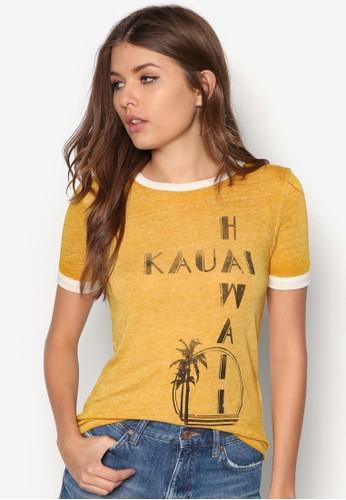 Burnout 夏威夷圖文Tzalora時尚購物網評價ee, 服飾, 服飾