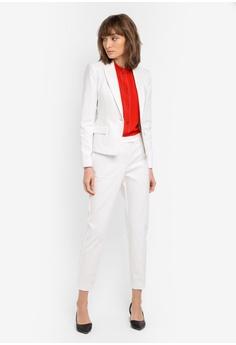 d99cf4c01c068 33% OFF Mango Essential Cotton-Blend Blazer NOW S  53.90 Sizes 40 42. Mango  black Essential Structured Blazer 32009AA743C6F3GS 1