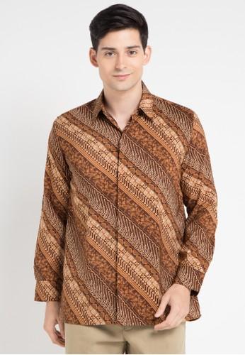 BATIK BODRONOYO brown Hpj Poly Parang Seling Kusumo BA332AA0WF1ZID_1