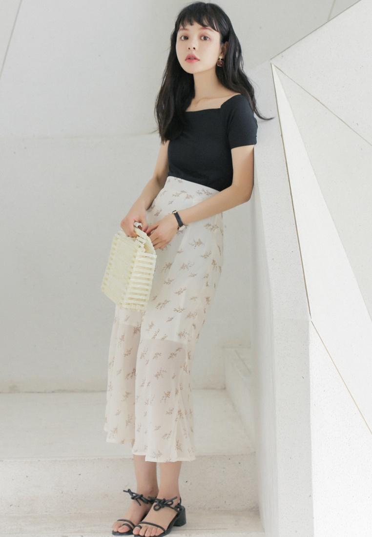 Shopsfashion in Black Basic Off Shoulder Black Top 6xg6wPqH